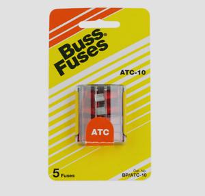 Bussmann-Buss-10-amps-32-volts-ATC-Automotive-0-8-034-Blade-Fuse-5pk-BP-ATC-10-RP