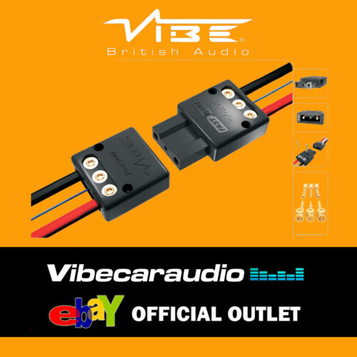 Vibe Fast Plug Quick Release Amplifier Amp /& Sub Box Subwoofer Connector