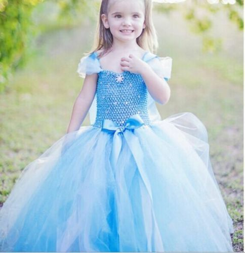 Hot-frozen-Princess-Anna-Elsa-Queen-Girls-Cosplay-Costume-Party-Formal-Dress