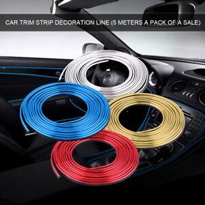 5 metro coche interior decoraci n l nea tira de moldura borde adhesivo pegatina ebay - Decoracion interior coche ...