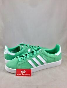 Nuevo adidas Originals Campus bz0076 resplandor verde blanco zapatos retro