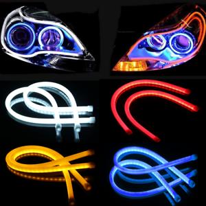Luz-corriente-diurna-del-tubo-de-tira-de-DRL-del-faro-del-LED-de-la-vuelta