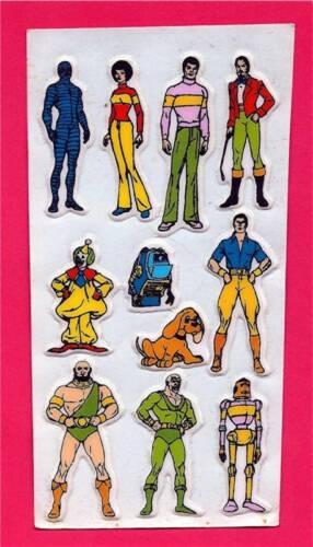 Super 7 Hero Villain Marvel DC Comics Old Stickers #2
