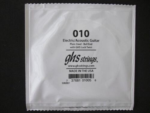 GHS  Einzel-Saite  E-Gitarren-Saite  010
