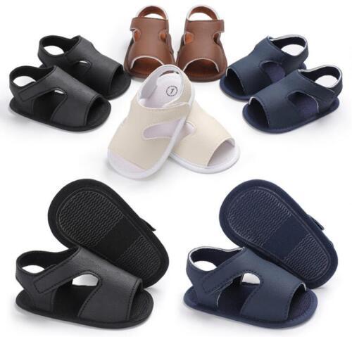 Newborn Baby Boys Pram Shoes Anti-Slip Pre Walking Trainers Sandals 0-18 Months