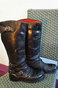 vintage 70 39 s distressed lewis leathers motorcycle boots size 6 westway w10 ebay. Black Bedroom Furniture Sets. Home Design Ideas