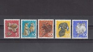 TIMBRE-STAMP-4-SUISSE-Y-amp-T-759-63-FAUNE-ANIMAL-HERISSON-NEUF-MNH-MINT-1965-B45