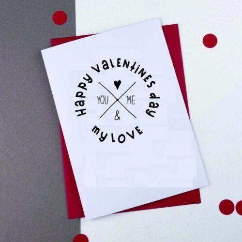Valentine's day Stamp Happy Valentine's day in Heart Shape Stamp Self Ink