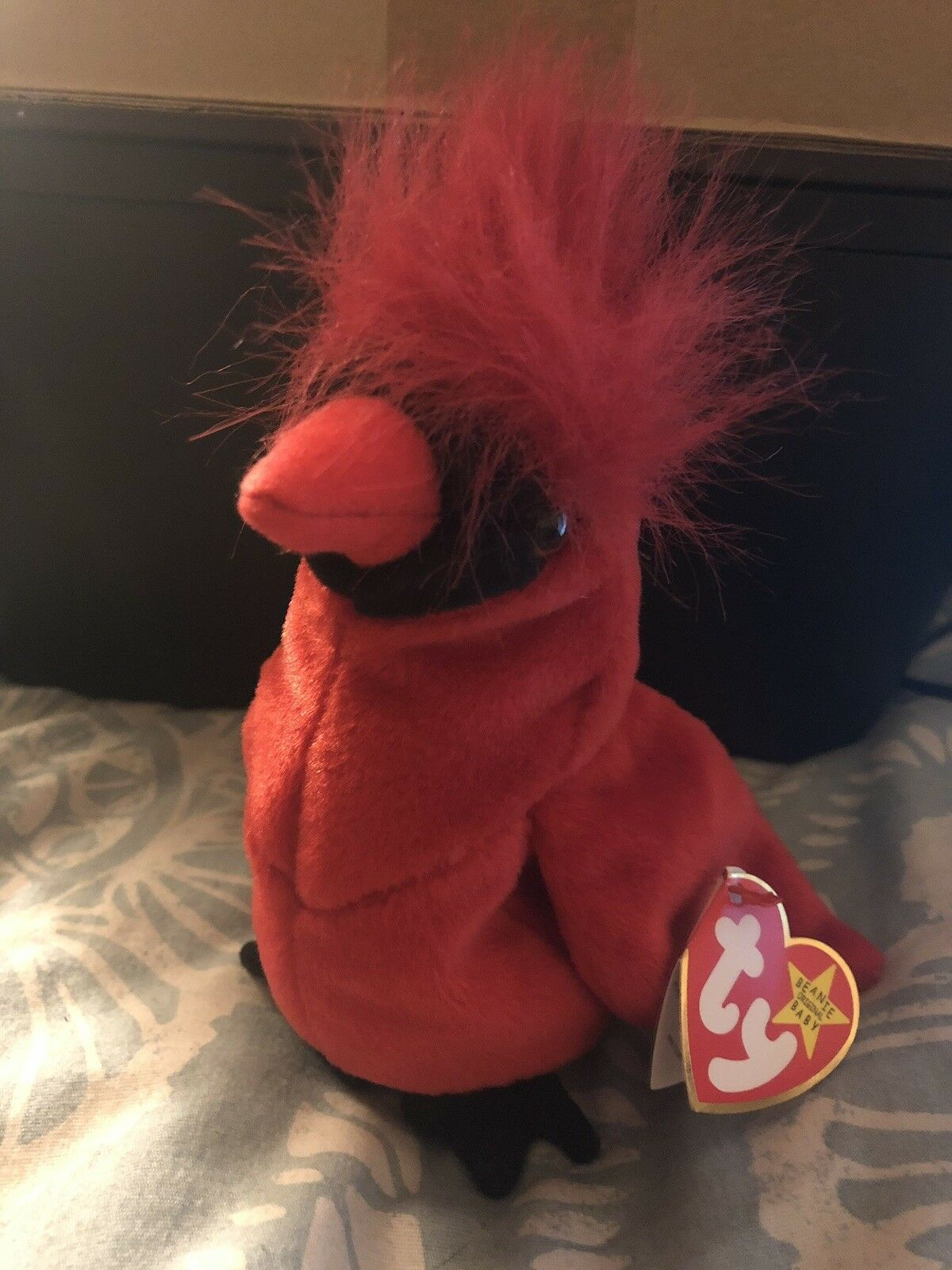 TY Beanie Baby Mac The Cardinal Extremely Rare With 4 ERRORS