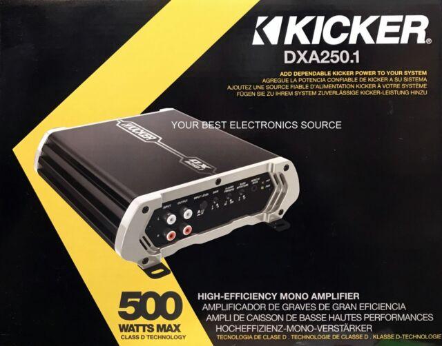NEW Kicker 41DXA250.1 D-Series Monoblock Class D Subwoofer Amplifier DXA250.1