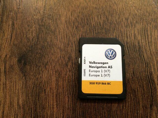 GENUINE VW DISCOVER MEDIA MIB2 SAT NAV NAVIGATION SD CARD EUROPE V7  3G0919866BC