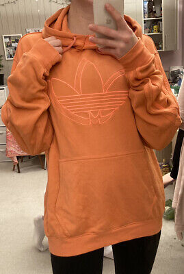 Strong-Willed Women's Adidas, Long Sleeve, Hooded, Long Sweatshirt, Orange, Size M High Quality And Inexpensive