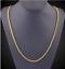 18k-feine-Goldkette-Koenigskette-vergoldet-60cm-lang-2MM-Damen-Herren-Halskette Indexbild 1