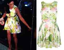 ILWF Green Floral Skater Dress Size 8 Vicky Geordie Shore BNWT In Love Fashion