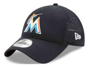 bd8f6b1aed560 New Era Miami Marlins Baseball Cap Hat MLB PERF PIVOT 2 80470538 ...