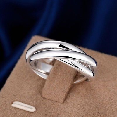 3er Ring Triple Dreifach Ringe Dreier Damen 925er Sterling Silber Ring | eBay