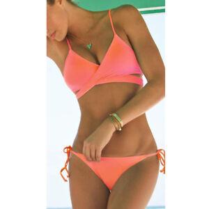 crazy price 100% top quality get new Détails sur Set Femme Ensembles Bikini Bandage Cross Rembourré Maillot Bain  Monokini Dos-nu