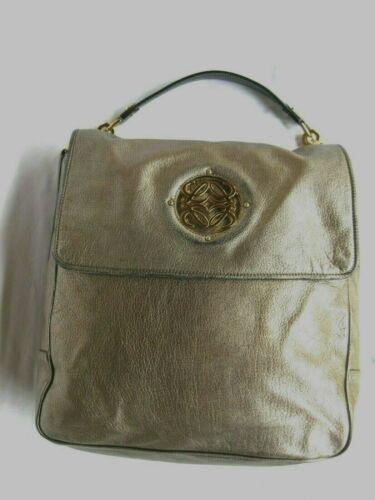 Loewe, Loewe Silver Leather Anagram Shoulder Bag