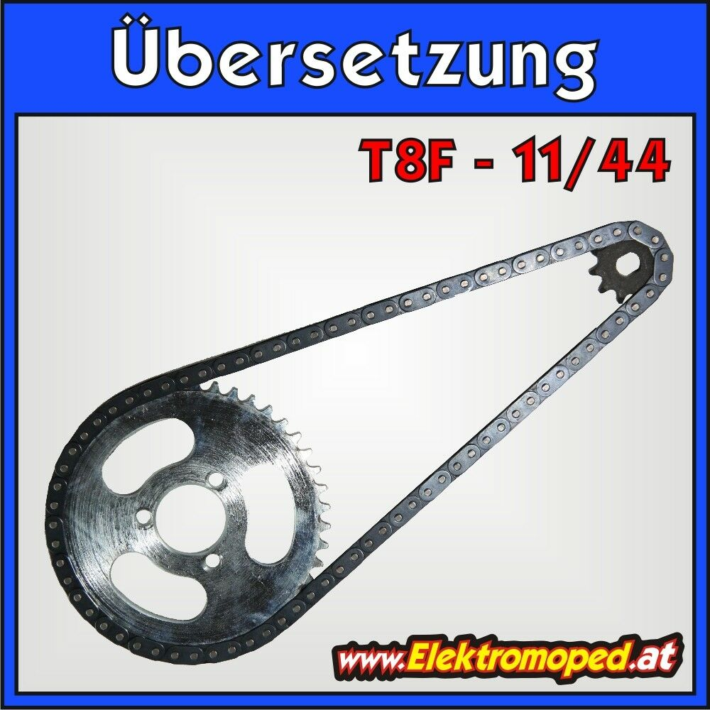 Electric Scooter spare part 11 44 T8F complete transmission fast  big  chain