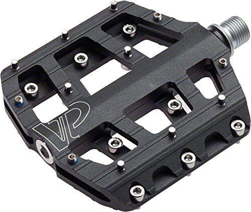 VP Bike Pedal Set for MTB BMX Bicycle, 9 16-Inch Spindle, Aluminum Platform with