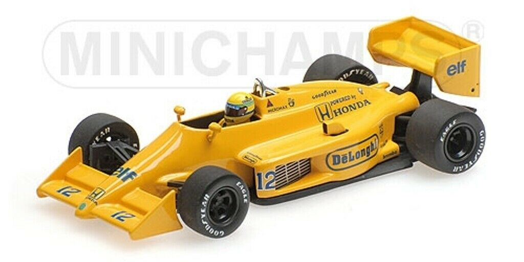 MINICHAMPS 540 540 874392 LOTUS HONDA 99T F1 race car Senna 1st Monaco GP 1987 1 43
