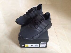 Image is loading ADIDAS-NMD-R1-TRIPLE-BLACK-SIZES-UK-7-