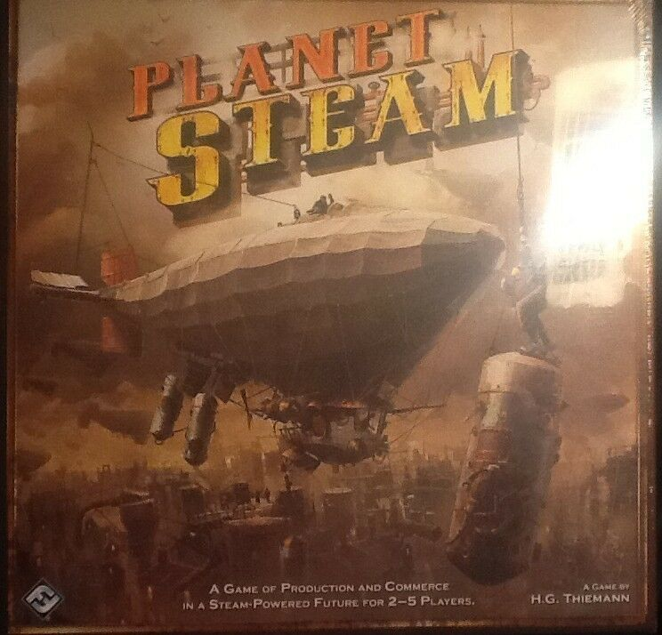 Planet Steam Board Game MINT Sealed Steampunk FFG