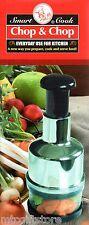 Smart Cook Chop & Chop  Gourmet  Stainless Food Chopper # 28302