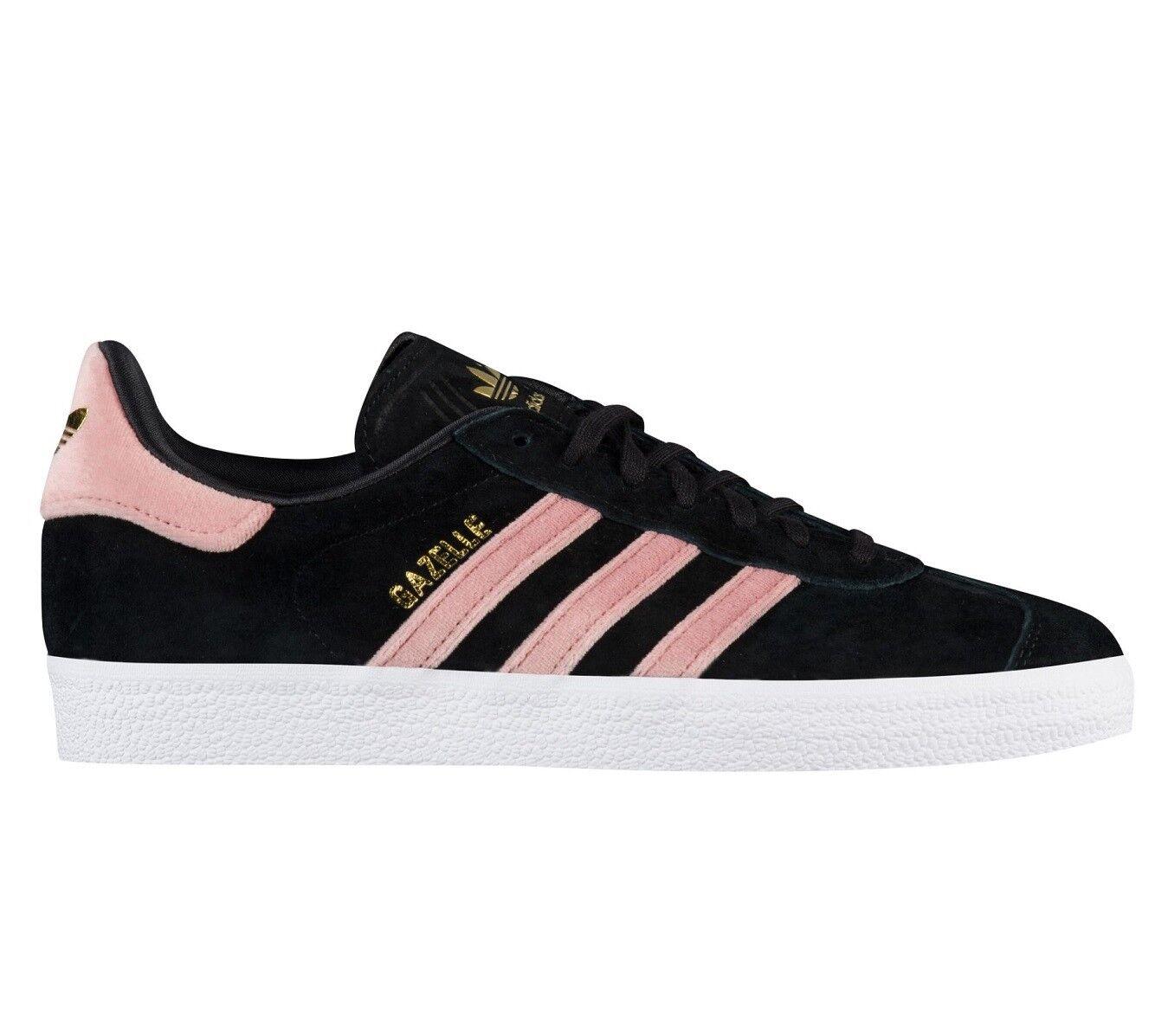 Adidas Gazelle Velvet Vibes Pack Womens DB0164 Black Raw Pink shoes Size 6