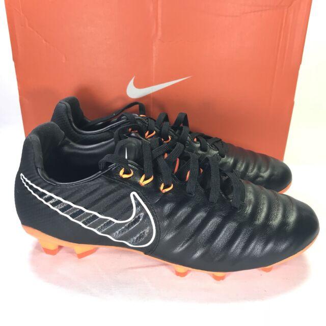 size 40 143d5 e9950 Nike JR Tiempo Legend VII 7 Elite FG Soccer Black Orange Sz 4.5Y AH7258-