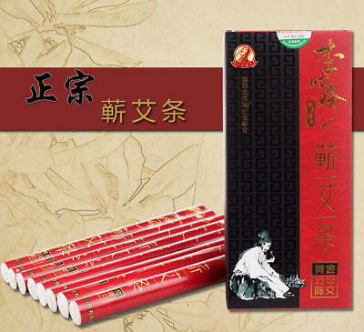Health & Beauty Five Years Lishizhen Smoke Moxa Roll Sticks Pure Moxa Rolls For Mild Moxibustion Acupuncture