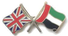 Great Britain & U.A.E. Flags Friendship Courtesy Enamel Lapel Pin Badge