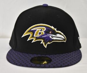 a2d2fc268f8 Image is loading New-Era-59Fifty-NFL-Baltimore-Ravens-Fitted-Hat-
