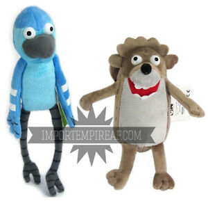 REGULAR SHOW MORDECAI AND RIGBY SET 2 SOFT TOY PUPPETS characters ... 87451caa4