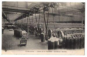CPA-61-FLERS-Orne-Filature-de-la-Planchette-Les-Bancs-a-broches