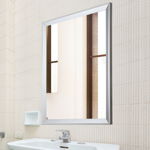 "24/""x32/"" Framed Bathroom Wall Mirror Rectangular Vanity Glass Beveled Home Decor"