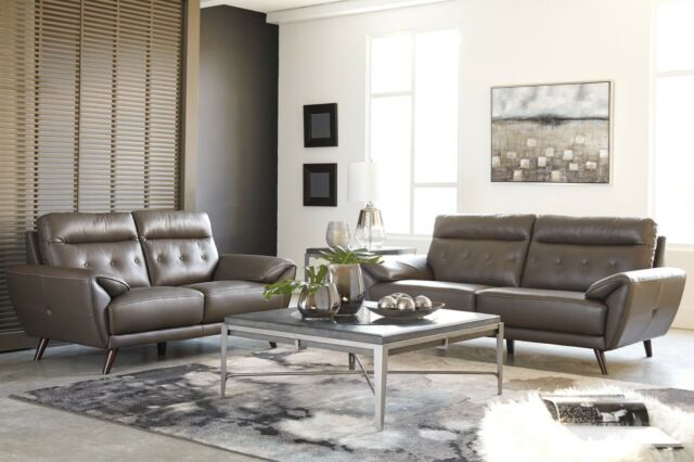 Ashley Furniture Sissoko Leather Sofa and Loveseat for sale online ...