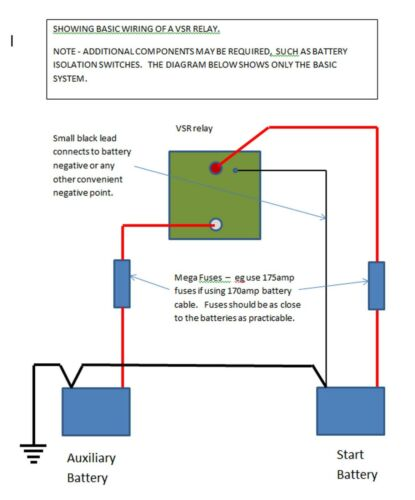 HCC 24v Dual /'Voltage Sensing/' split charge relay VSR 24v 140amp  VSR24140HCC