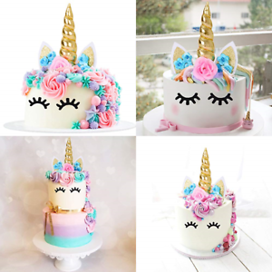 Image Is Loading Unicorn Cake Toppers Set Of 6 Kids Birthday
