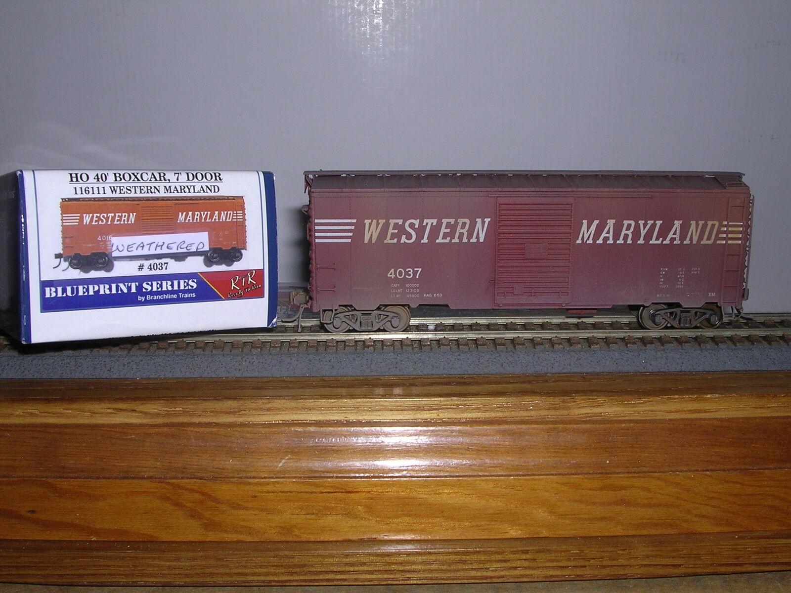 BRANCHLINE Western Maryland 40' AAR Box Car w 7' Doors Weath. 1 8