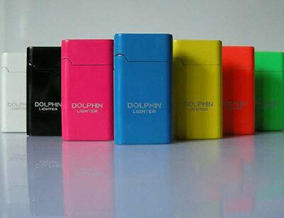 New Mini Metal Slim Dolphin Cigarette Refillable Butane Gas Torch Lighter #29