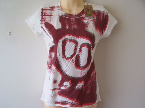 *NEW* PRIMAL SCREAM SCREAMADELICA LADIES VINTAGE WASH OFF WHITE T SHIRT S
