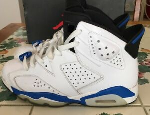 super popular 495ad e185d Image is loading Air-Jordan-Retro-6-VI-Sport-Royal-7-
