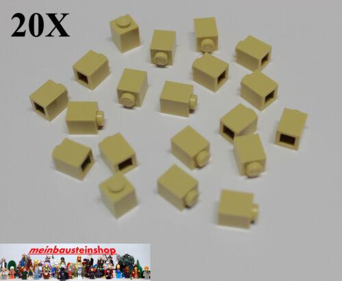 20X Lego® 3005 Basic Steine Brick 1X1 Beige Tan NEU
