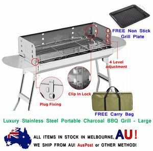 New-Luxury-Stainless-Steel-Portable-Camping-Picnic-Outdoor-Charcoal-BBQ-Grill