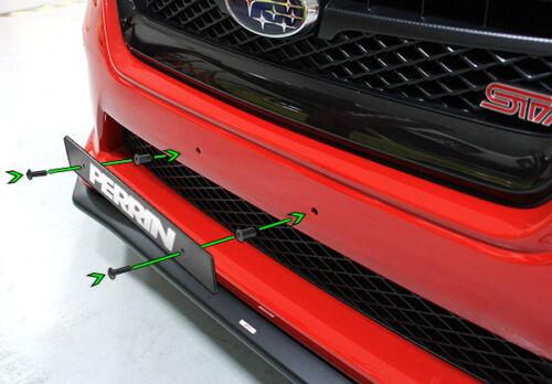 Black STi 06-16 WRX PERRIN 2-Sided License Plate Delete for Subaru Impreza