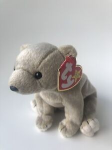 TY Beanie Babies Collection Almond The Beige Bear DOB April 14, 1999 MWMT