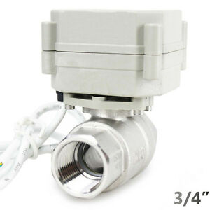 CR2-02 with US Plug HSH-Flo Motorized Ball Valve 3//4 DN20 2 Way SS304 AC110V-230V Normally Closed,NPT Electrical Ball Valve