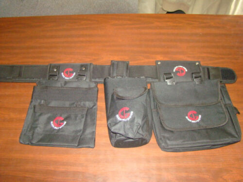 Padded Belt Metal Detecting Finds w// 2 Pouchs Insulated Drink Pouch