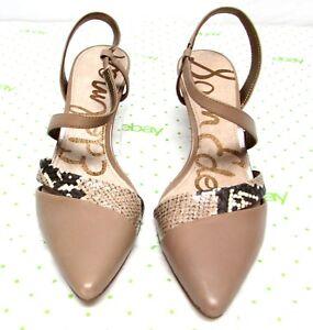 23333753b32aa9 Sam Edelman women s size 7.5 M leather sandals pumps high heel ankle ...